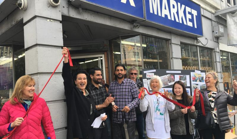 Ribbon cutting at Fox Market Grand Re-opening