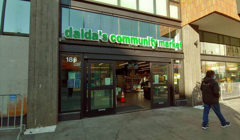 Dalda's Community Market front entrance 2020