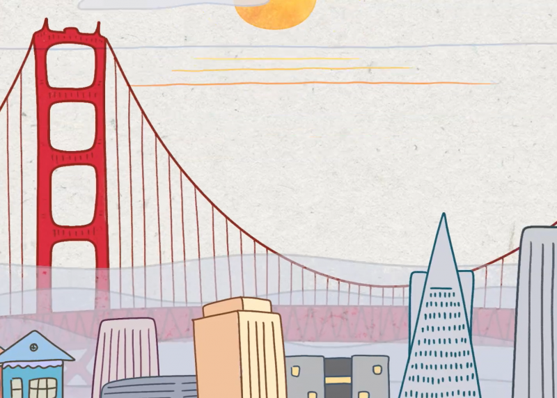 Animation of the San Francisco skyline